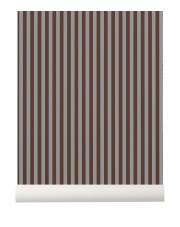 Tapeta skandynawska THIN LINES Bordeaux/Grey - ferm LIVING