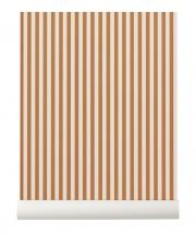 Tapeta skandynawska THIN LINES Mustard/Off White - ferm LIVING