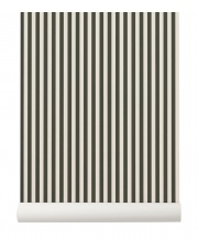 Tapeta skandynawska THIN LINES Green/Off White - ferm LIVING