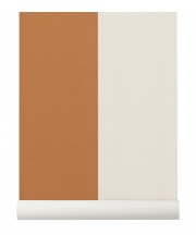 Tapeta skandynawska THICK LINES Mustard/Off White - ferm LIVING