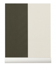 Tapeta skandynawska THICK LINES Green/Off White - ferm LIVING