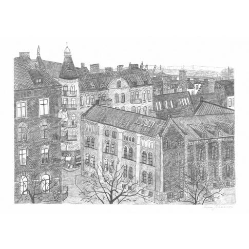 Fotografia, na której jest Skandynawski plakat HAGABION - Mona Johansson - Fine Little Day