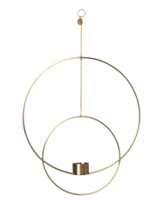 Świecznik wiszący DECO  - mosiężny - ferm LIVING | okrągły