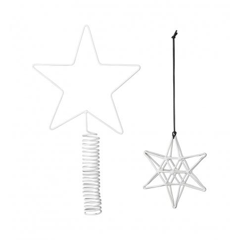 Fotografia, na której jest Czubek choinkowy + 4 wiszące gwiazdki - Bloomingville