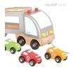 Fotografia, na której jest Samochód drewniany laweta do ciągnięcia - JANOD