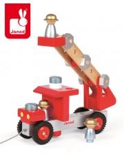 Wóz strażacki do składania drewniany duży - JANOD