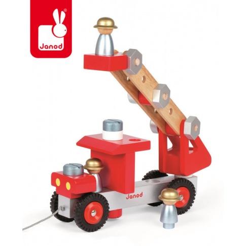 Fotografia, na której jest Wóz strażacki do składania drewniany duży - JANOD