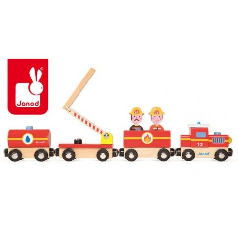 Fotografia, na której jest Straż pożarna pociąg drewniany - JANOD