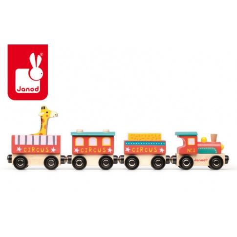 Fotografia, na której jest Cyrk pociąg drewniany - JANOD