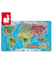 Puzzle magnetyczne Mapa świata - JANOD