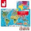 Fotografia, na której jest Puzzle magnetyczne Mapa świata - JANOD