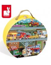 Puzzle w walizce Pojazdy 100 elementów - JANOD