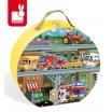 Fotografia, na której jest Puzzle w walizce Pojazdy 100 elementów - JANOD