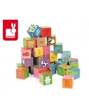 Klocki puzzle 6w1 Alfabet - JANOD