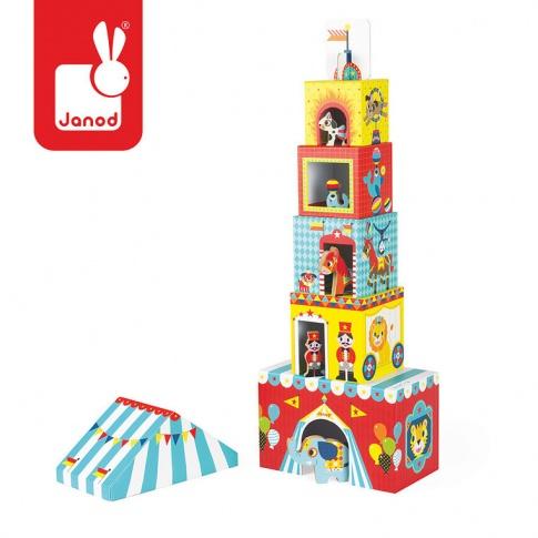 Fotografia, na której jest Piramida wieża ze zwierzątkami Cyrk - JANOD
