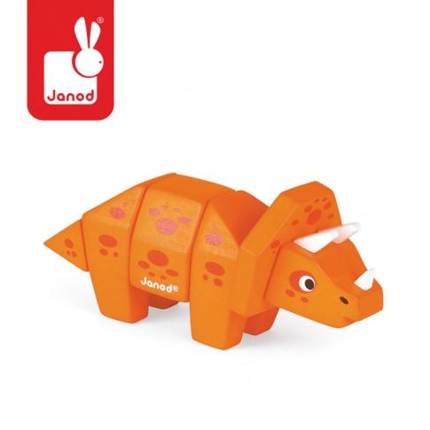 Fotografia, na której jest Triceratops drewniany do złożenia - JANOD