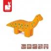 Fotografia, na której jest Brachiozaur drewniany do złożenia - JANOD