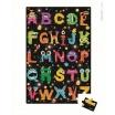 Fotografia, na której jest Puzzle podłogowe w walizce Alfabet potworki - JANOD