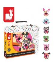 Zestaw artystyczny Origami Kolorowe zwierzątka - JANOD