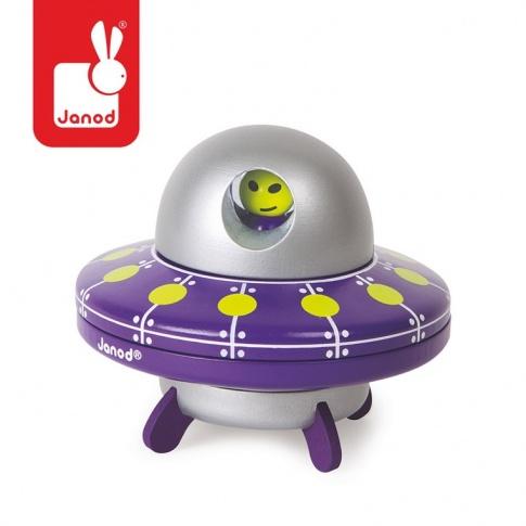 Fotografia, na której jest Statek UFO drewniany magnetyczny - JANOD