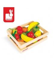 Owoce drewniane 12 szt. w skrzyneczce - JANOD