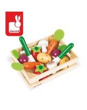 Warzywa drewniane 12 szt. w skrzyneczce - JANOD