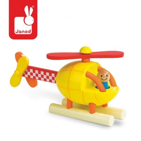 Fotografia, na której jest Helikopter drewniany magnetyczny - JANOD