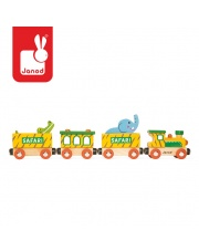 Safari pociąg drewniany - JANOD