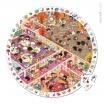 Fotografia, na której jest Puzzle obserwacyjne w walizce Szkoła - JANOD