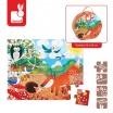 Fotografia, na której jest Puzzle w walizce Las - JANOD
