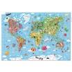 Fotografia, na której jest Puzzle w walizce Mapa Świata 300 elementów - JANOD