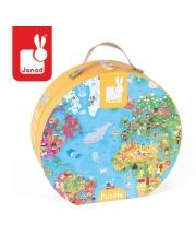 Puzzle w walizce Mapa Świata 300 elementów - JANOD