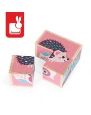 Klocki drewniane Puzzle 6w1 Zwierzątka - JANOD