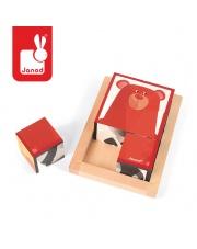 Klocki drewniane 6 elementów puzzle Baby Forest - JANOD