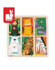 Puzzle sensoryczne drewniane