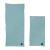 Fotografia, na której jest Komplet dwóch organicznych ręczników - niebieski - ferm LIVING