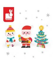 Magnetyczne klocki 3D Święty Mikołaj i przyjaciele - JANOD