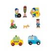 Fotografia, na której jest Miasto zestaw drewniany 8 elementów kolekcja Story - JANOD