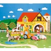 Fotografia, na której jest Farma zestaw drewniany 10 elementów kolekcja Story - JANOD
