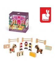 Koniki zestaw drewniany 12 elementów kolekcja Story - JANOD