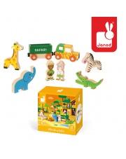 Dzikie zwierzęta zestaw drewniany 8 elementów kolekcja  Story - JANOD