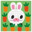 Fotografia, na której jest Zestaw artystyczny Karty z naklejkami Zwierzęta - JANOD