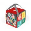 Fotografia, na której jest Klocki drewniane z matą do zabawy Kubix 40 sztuk Litery i cyfry - JANOD