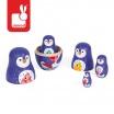 Fotografia, na której jest Rodzina pingwinów matrioszki - JANOD