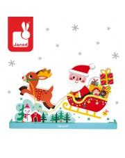 Magnetyczne klocki 3D Sanie Świętego Mikołaja - JANOD