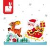 Fotografia, na której jest Magnetyczne klocki 3D Sanie Świętego Mikołaja - JANOD