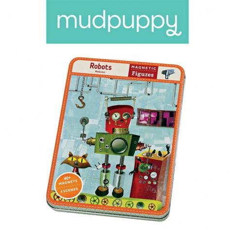 Fotografia, na której jest Mudpuppy Magnetyczne postacie Roboty 6+