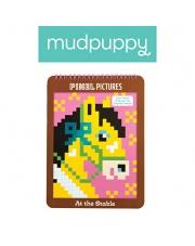 Mudpuppy Kolorowanka piksele Konie 6+