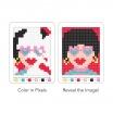 Fotografia, na której jest Mudpuppy Kolorowanka piksele Śmieszne buźki 6+