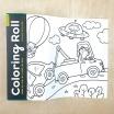 Fotografia, na której jest Mudpuppy Kolorowanka w rolce 3m z 6 kredkami Środki transportu